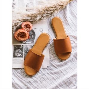 Shoes - Camel slip on sandals NWT